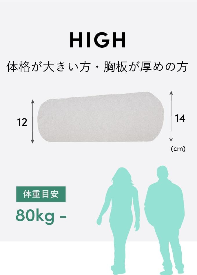 HIGH 体格の大きい方・胸板が厚めの方 体重目安:80kg-