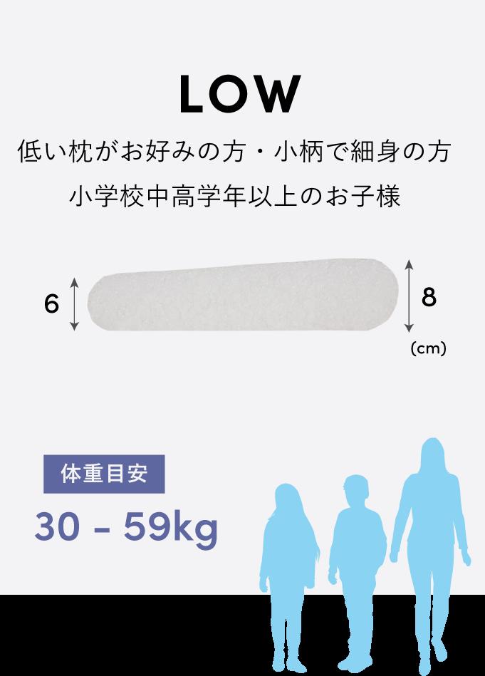 LOW 小柄で細身の方・お子様 体重目安:30-49kg