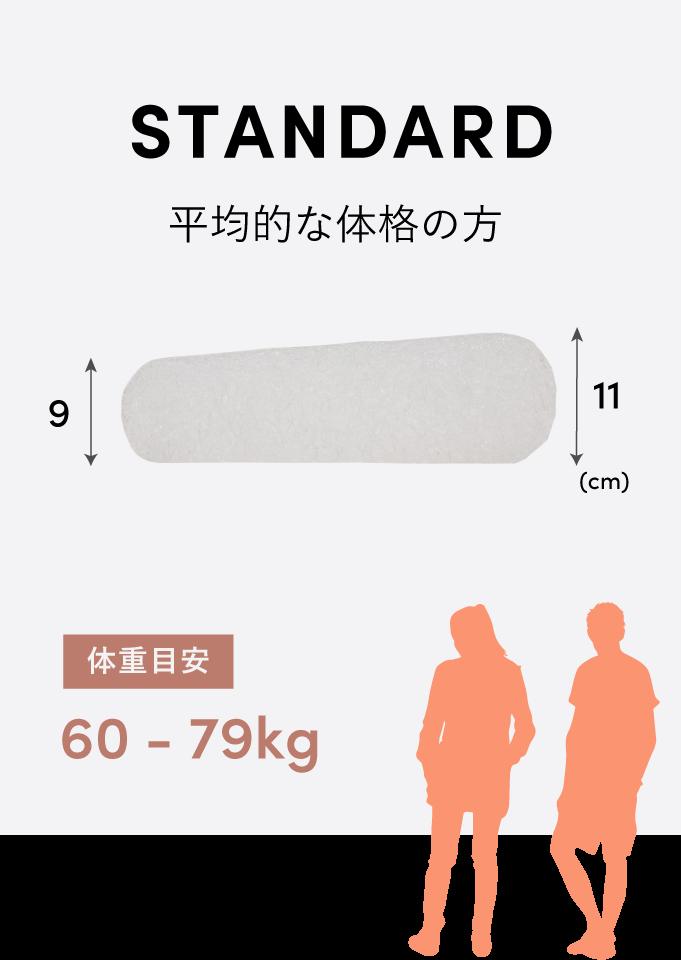 STANDARD 平均的な体格の方 体重目安:50-79kg